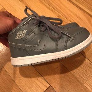 Nike air Jordan's in grey
